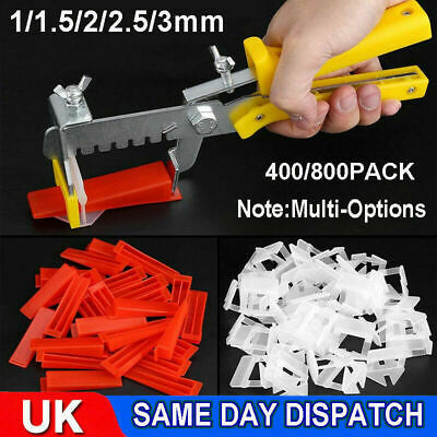 400/800 X Tile Leveling Spacer System Tool Clips & Wedges Flooring Lippage Plier • 8.09£