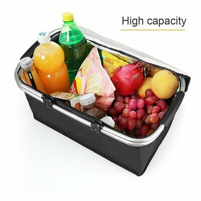 30L Extra Large Cooling Cooler Cool Bag Box Picnic Camping Food Ice Drink Lunch • 10.99£