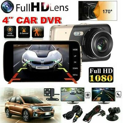 AU36.59 • Buy HD 1080P Car Dash Camera Recorder LCD Dual Lens DVR Front And Rear Reverse Cam