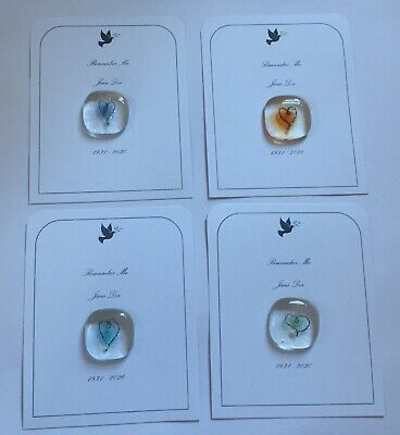 Fused Glass Hug / Remembrance Gifts / Bereavement Gifts / Sympathy / Condolence • 5£