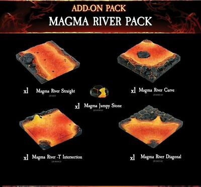 $ CDN113.88 • Buy Dwarven Forge Terrain -  HELLSCAPE MAGMA RIVER PACK  (FULLY PAINTED And NEW!!)