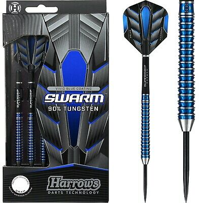 Harrows Swarm Darts Set 21g 22g 23g 24g 25g 26g Gram Tungsten Ringed • 37.95£