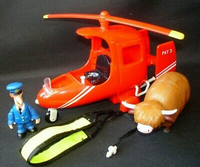 Postman Pat Figure Deluxe SDS Rescue Helicopter Runaway Daisy Highland Cow Toy • 19.99£
