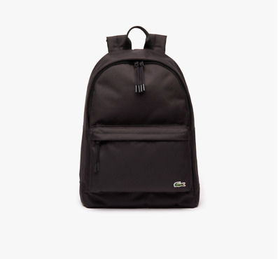 Lacoste Black Neocroc Canvas Backpack Nh2677ne • 65£