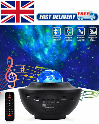 USB Galaxy Star Night Lamp LED Starry Sky Projector Light With Ocean Wave Remote • 19.99£
