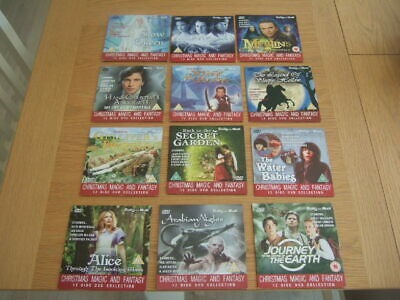 Daily Mail Chrismas Magic And Fantasy 12 Dvd Collection. • 6£