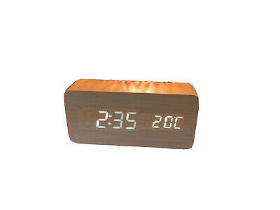 LED Digital Alarm Clock Wood Effect • 5.50£