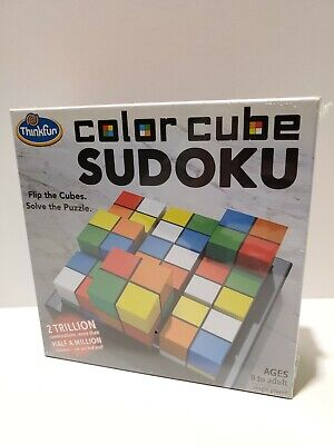 Thinkfun Color Cube Sudoku Puzzle Game Flip The Cubes Solve The Puzzle New • 6.43£