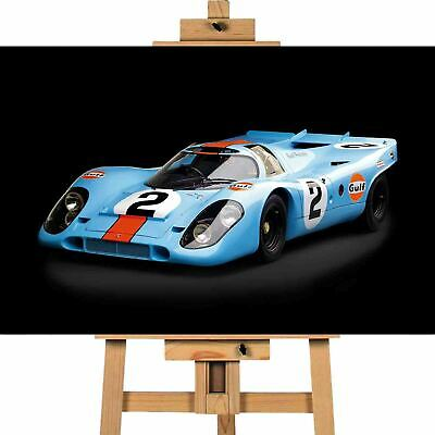 Porsche 917 Gulf  Canvas Wall Art Print Picture • 29.99£