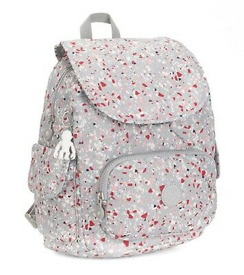 £59 • Buy Kipling Grey Classic City Pack Small Speckled Bag RRP £87 Brand New Red Pink 13L