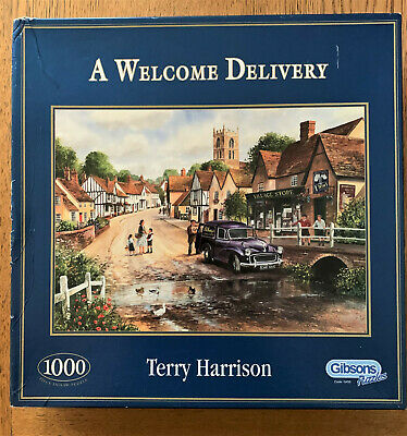 Gibsons A Welcome Delivery 1000 Piece Jigsaw Puzzle Terry Harrison COMPLETE   • 7.99£