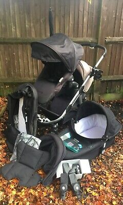 Icandy Apple 2 Pear Twin Pushchair, Pip Adapters Newborn Nests, Double Or Single • 245£