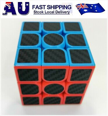 AU5.99 • Buy New 3x3x3 Carbon Fibe Professional Speed Magic Rubiks Cube Smooth Puzzle