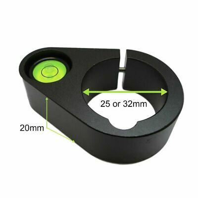 £13.13 • Buy 25mm & 32mm Spirit Level Camera Rod Bubble Inner Diameter Round Metal Levelling