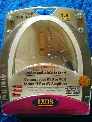£8.50 • Buy IXOS S-Video And 2 RCA To Scart 1.5m/4.5ft