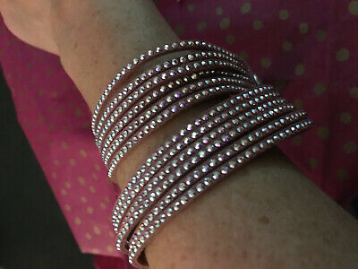 GENUINE Swarovski Jewelry Slake Crystal Moonlight Bracelet PINK • 35£