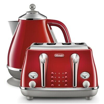AU288.75 • Buy Delonghi Icona Capitals Kettle & Toaster Tokyo Red Pack