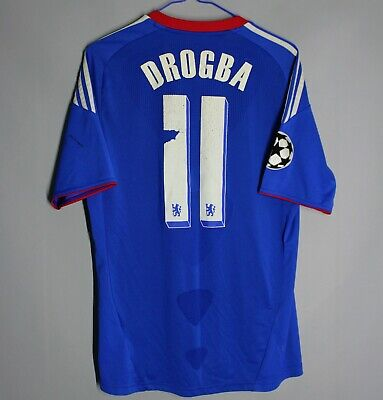 Chelsea London 2011 2012 Home Football Shirt Jersey #11 Drogba Ucl Adidas • 29.99£
