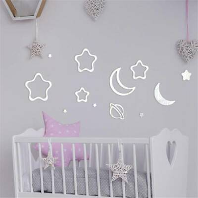 Acrylic Modern Mirror Wall Sticker Home Decor For Children Kids Room Decal J • 3.73£
