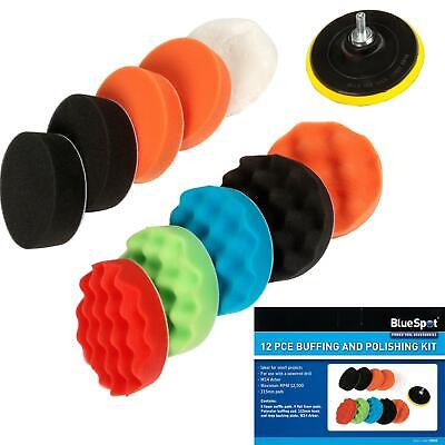 £12.39 • Buy Bluespot 12pc Buffing Polishing Mop Wheel Pad Set For Grinder And Drill