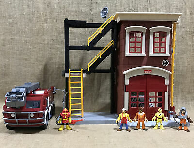 Lot Of Fisher Price Imaginext Rescue Firefighter Fire Station Truck  • 71.38£