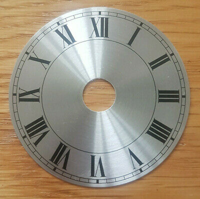 £7.95 • Buy NEW - 2 Inch Clock Dial Face - Silver Finish 54mm - Roman Numerals - DL02