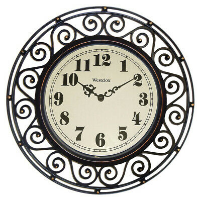 £12.90 • Buy Westclox Wall Clock Wrought Iron Look Style Round 12 Inch Analog 32021A New