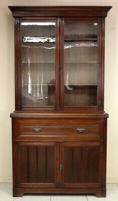 AU2650 • Buy Antique Bookcase With Secretaire Drawer Cabinet Circa 1890 In English Walnut