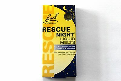 Bach Rescue Remedy NIGHT Liquid Melts - 28 Capsules • 6.99£