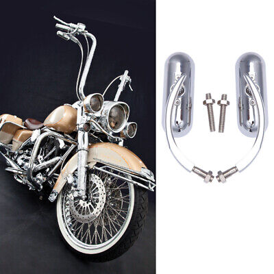$35.49 • Buy Chrome Motorcycle Mirrors For Harley Davidson Road King Street Glide Softail US