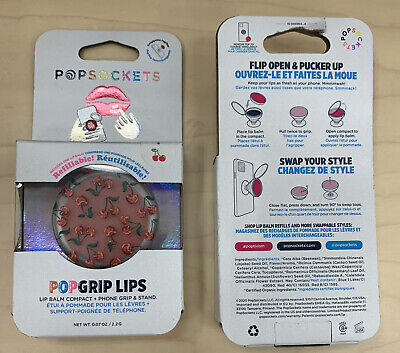 AU12.78 • Buy PopSockets PopGrip Lips Cell Phone Grip & Stand Cherry Lipbalm