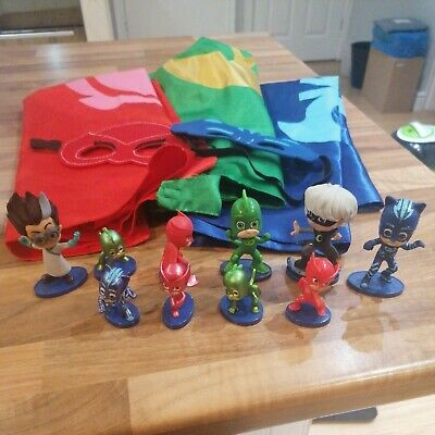PJ Masks Bundle Capes Face Masks Figures  Romeo Catboy Owlet Gekko Luna  • 14.50£