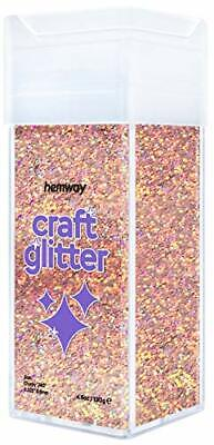 Hemway Chunky Craft Glitter Shaker For Arts Crafts Tumblers Schools Paper Glass • 14.99£