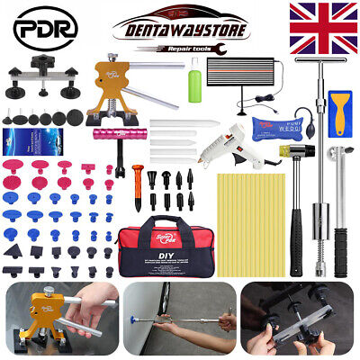 UK PDR Tools Dent Puller Lifter Paintless Hail Removal Repair LED Line Board Set • 79.08£