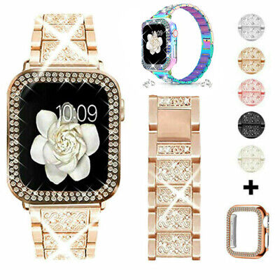 $14.99 • Buy Bling IWatch Strap Case For Apple Watch Band Series 6 5 4 3 2 1 SE 38 40 42 44mm