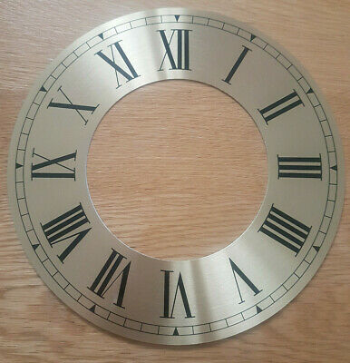 £6.95 • Buy 8.5 Inch Chapter Ring Clock Zone Dial Face - Gold/Brass Roman Numeral 220mm CR25