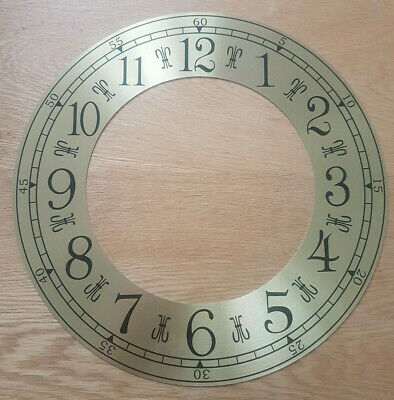 £11.95 • Buy 12 Inch Chapter Ring Clock Zone Dial Face - Gold/Brass Arabic Numeral 305mm CR42