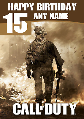£3.99 • Buy Personalised Call Of Duty Birthday Card, COD Personalized, ADD A NAME