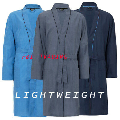 Mens GENTS  Dressing Gown Lightweight Summer Holiday Hospital  • 16.95£