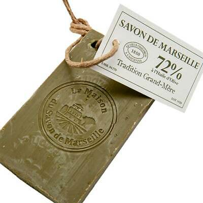 Savon De Marseille - 72% Olive Oil Soap On A Rope - Multipurpose - 250g Slice • 6.95£