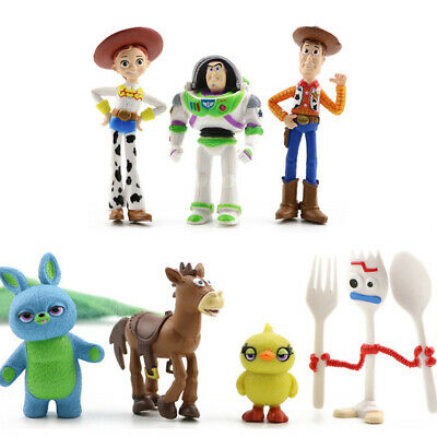 7 PCS Toy Story Kids Toys Woody Action Figure Buzz Lightyear Cake Topper Bulleye • 6.49£