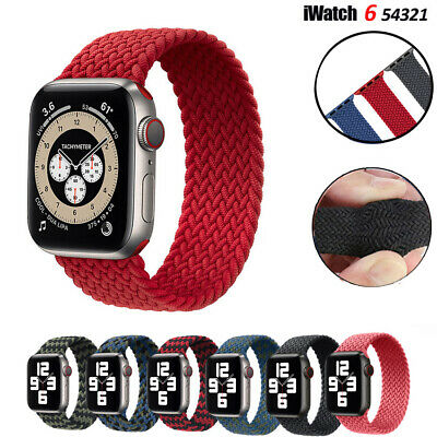 $ CDN6.24 • Buy Nylon Braided Solo Loop IWatch Band Strap For Apple Watch Series 6 5 4 3 42/44mm