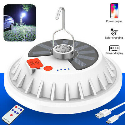 5000LM 120LED Solar Light Camping Lantern BBQ Tent USB Rechargeable Lamp +Remote • 9.99£