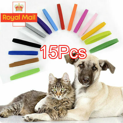 15 Colors Nylon Puppy Litter Identification Snap Collars ID Identification Bands • 3.69£