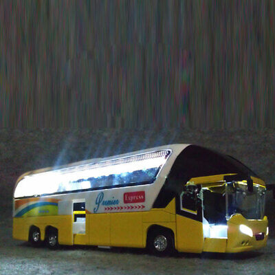 $ CDN18.78 • Buy 1:32 Alloy Pull Back Sightseeing Double Decker Bus Toy Model With Sound Light