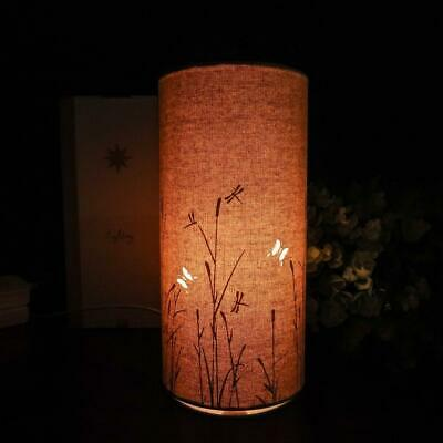 £19.95 • Buy New Butterflies Standing Fabric Electric Table Lamp With Led Bulb Light Glow