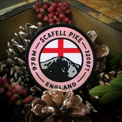 Scafell Pike (Lake District National Park, England) Woven Patch Badge • 4.99£