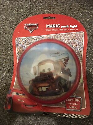 Disney Cars Push Light Night Light Brand New Ideal Stocking Fillers • 4£