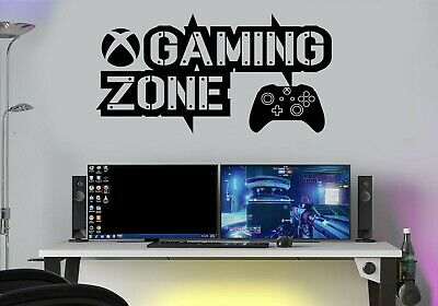 Gaming Zone Wall Stickers Decals Gaming Art PS5 XBOX PS4 Gamer Controller Gamer  • 6.25£