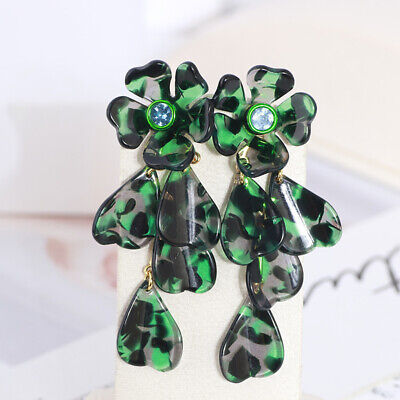 $ CDN30.61 • Buy Kate Spade Petal Pushers Green Floral Crystal Drop Linear Earrings W/ Gift Box